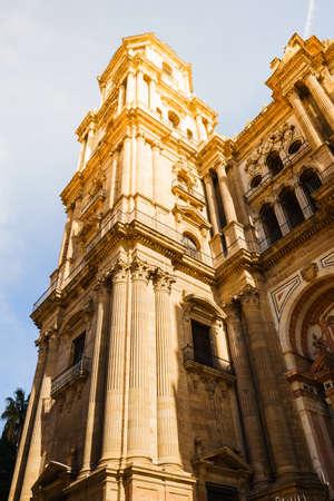 malaga: View of Malaga cathedral, Spain