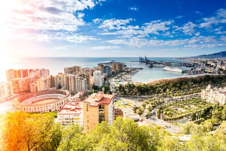 Malaga cityscape, Spain at daytime