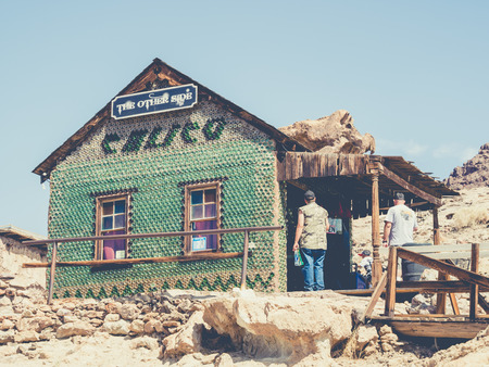 SAN BERNARDINO, USA - SEPTEMBER 05: Calico on September 05, 2015 in San Bernardino County, California, United States. Calico is a ghost town, it was founded in 1881. Redactioneel