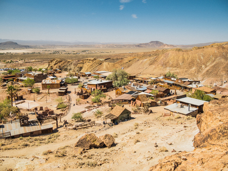 calico: SAN BERNARDINO, USA - SEPTEMBER 05: Calico on September 05, 2015 in San Bernardino County, California, United States. Calico is a ghost town, it was founded in 1881. Editorial