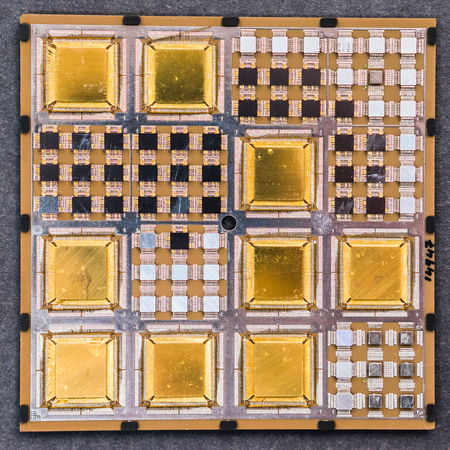 Close-up of microchip