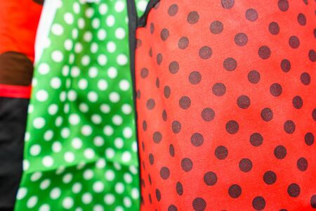 dotted: Bright dotted material in close-up