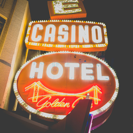 renowned: LAS VEGAS, USA - SEPTEMBER 09: Fremont Street on September 09, 2015 in Las Vegas, United States. It is an internationally renowned major resort city known primarily for gambling, shopping, fine dining and nightlife.