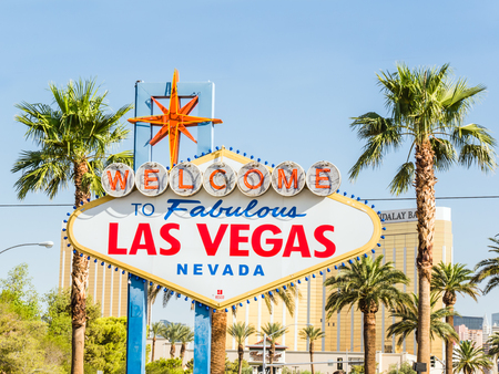 renowned: LAS VEGAS, USA - SEPTEMBER 11: LV sign on September 11, 2015 in Las Vegas, United States. It is an internationally renowned major resort city known primarily for gambling, shopping, fine dining and nightlife. Editorial