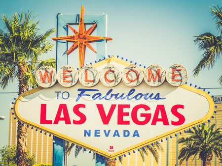 LAS VEGAS, USA - SEPTEMBER 11: LV sign on September 11, 2015 in Las Vegas, United States. It is an internationally renowned major resort city known primarily for gambling, shopping, fine dining and nightlife. Editorial
