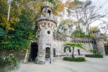 quinta: Quinta da Regaleira in Sintra, Portugal. Editorial