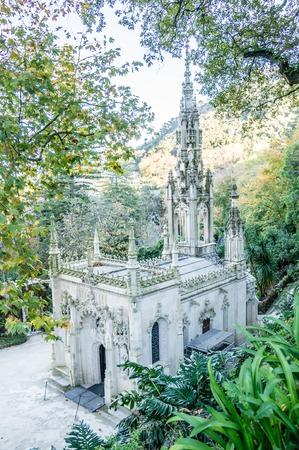 sintra: Quinta da Regaleira in Sintra, Portugal. Editorial