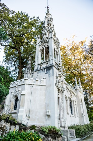 quinta: Quinta da Regaleira in Sintra, Portugal. Stock Photo