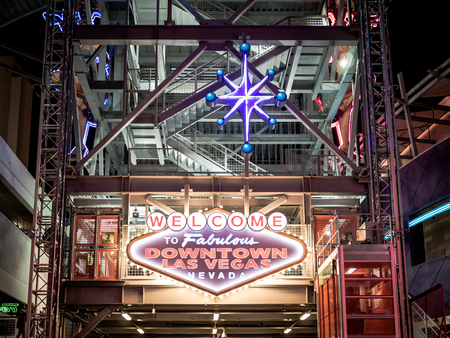 internationally: LAS VEGAS, USA - SEPTEMBER 09: Fremont Street on September 09, 2015 in Las Vegas, United States. It is an internationally renowned major resort city known primarily for gambling, shopping, fine dining and nightlife.