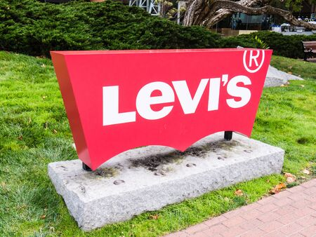 levi: SAN FRANCISCO, USA - SEPTEMBER 15: Levi Strauss & Co Headquarters on September 15, 2015 in San Francisco, California, United States. It was founded in 1853.