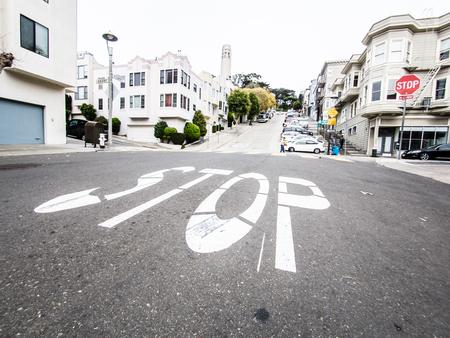 filbert: SAN FRANCISCO, USA - SEPTEMBER 15: Filbert Street on September 15, 2015 in San Francisco, California, United States. San Francisco was founded on June 29, 1776.