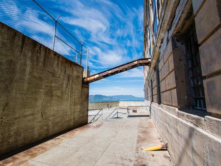 alcatraz: SAN FRANCISCO, USA - SEPTEMBER 15: Alcatraz Penitentiary on September 15, 2015 in San Francisco, California, United States. It was a federal prison from 1933 until 1963.