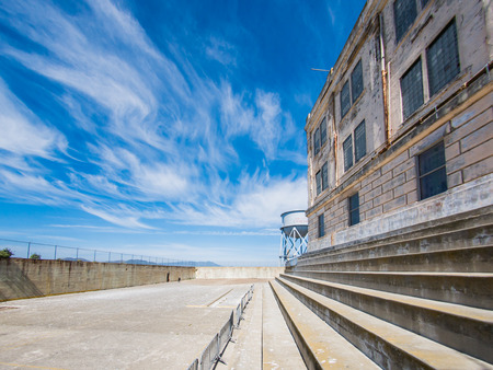 SAN FRANCISCO, USA - SEPTEMBER 15: Alcatraz Penitentiary on September 15, 2015 in San Francisco, California, United States. It was a federal prison from 1933 until 1963.