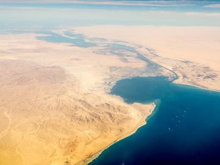 Suez Canal Stockfoto