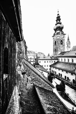 mit: SALZBURG,AUSTRIA - 12 MARCH 2016: Festungskirche mit Kaplanei zum heiligen GeorgHohensalzburg Editorial