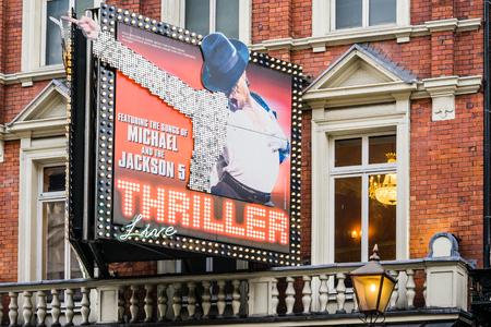 shaftesbury: LONDON, UK - 20 FEBRUARY, 2017: Michael Jacksons Thriller live at Lyric Theater Editorial
