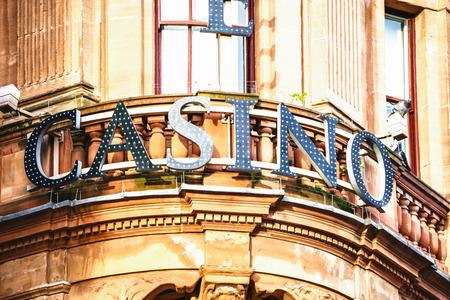 LONDON, UK - 20 FEBRUARY, 2017: Casino sign