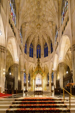 St. Patricks Cathedral, New York, USA - 22 October, 2016:It  is a decorated Neo-Gothic-style Roman Catholic cathedral in 5th Avenue