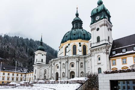 ETTAL, GERMANY - MARCH 07: Ettal Monastery on March 07, 2016 in Ettal, Germany. It is in the district of Garmisch-Partenkirchen, in Bavaria.