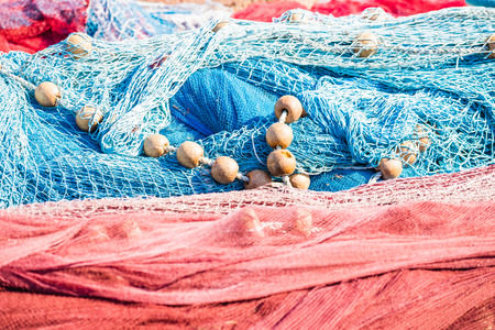 Nets lying in mess Stock Photo