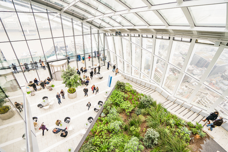 LONDON, UK - 18 FEBRUARY, 2017: The Sky Garden at 20 Fenchurch Street is a unique public space designed by Rafael Vinoly Architects 에디토리얼