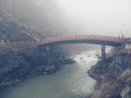Shinkyo Bridge in Nikko, Tochigi, Japan