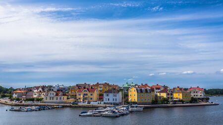 Cityscape of Karlskrona, Sweden.