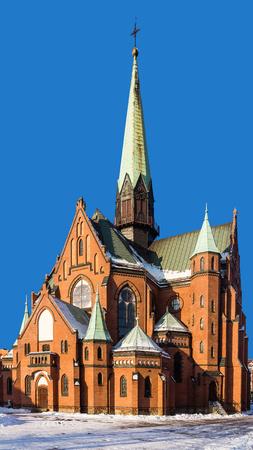 eclecticism: Neo-Gothic St. Joseph church in Katowice, Silesia region, Poland. Stock Photo