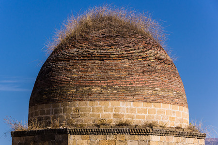 domes: Yedi-Gumbez Mausoleum Seven Domes, Shemakha, Azerbaijan
