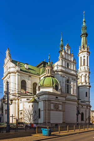 eclecticism: Church of the Holy Redeemer in Warsaw, Poland. Eclectic church built in 1903 in a style referring to the Baroque and Renaissance. Editorial