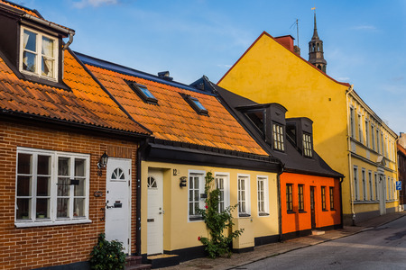 small houses: Charming small houses in Ystad, Scania region, Sweden.