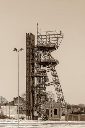 shaft: Mine shaft in Katowice, Poland Stock Photo