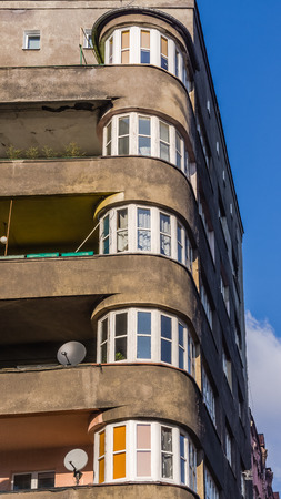 functionalism: The building in the functionalism style, built in 1930-1931, in Katowice, Silesia region, Poland. Editorial