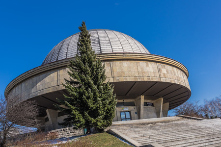 cosmology: Chorzow, Poland - March 23, 2013: Silesian Planetarium and the Astronomical Observatory, the largest and the oldest Polish planetarium formed in 1955 to commemorate Nicolaus Copernicus. Editorial