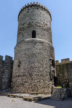 casimir: Tower of the Bedzin Castle, a medieval fortified stronghold built by King Casimir the Great in the forties of 14th century.