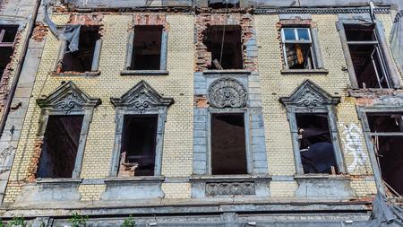 Dilapidated house in Katowice, Silesia region, Poland. Stock Photo