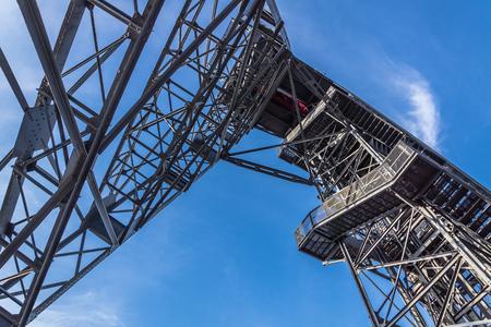 shaft: Closeup of the old mine shaft in Katowice, Silesia region, Poland.