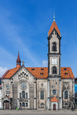 adolf: Lutheran Church of the Saviour in Tarnowskie Gory, Silesia region, Poland. Designed by Christoph Worbs, built in 1790, later in 1900 rebuilt in neo-Romanesque style by the architect Adolf Seiffhart.
