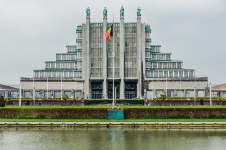 the world expo: Brussels, Belgium - May 2, 2013: Brussels Exhibition Centre. Complex has 12 exhibition halls including 5 which date back to the 1935 World Expo, with a surface area of 3,000 to 13,000 m. Editorial