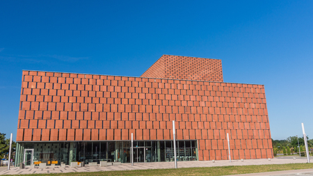 scientific literature: Katowice, Poland -  September 8, 2013: The Scientific Information Centre and Academic Library. Project  serves  the University of Silesia and the University of Economics in Katowice. Editorial