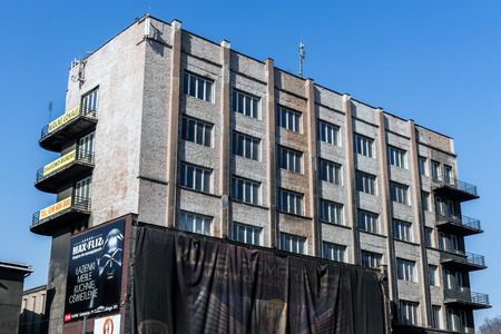 functionalism: Katowice, Poland -  February 14, 2015: Silesian Insurgent House built in 1937 in the style of Functionalism. Building is one of the most interesting examples of modernistic architecture in the city. Editorial