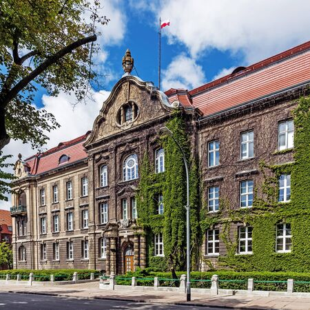 technical university: Szczecin, Poland - June 20, 2015: Maritime University of Szczecin, state technical university founded in 1947, with over 100 laboratories is one of the best-equipped maritime universities in the world.