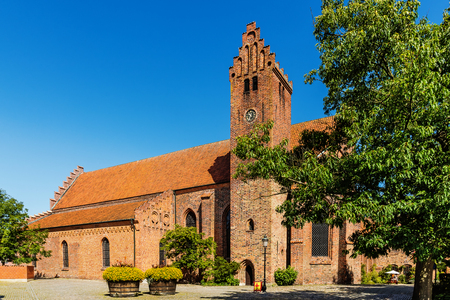 hallowed: YSTAD, SWEDEN - AUGUST 6, 2015: The Monastery Klosteret  in Ystad, founded in 1267,  the oldest  monastery in Sweden.  Hallowed for St.Peter, nowadays serves as both church and a museum.