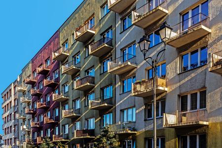 residential: Ordinary residential blocks in Katowice, Silesia region, Poland.