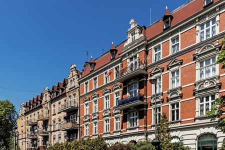 Ancient tenements in Gliwice, Poland