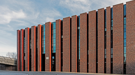 KATOWICE, POLAND – DECEMBER 10, 2017: New seat of Polish National Radio Symphony Orchestra in Katowice. The orchestra founded in 1935 is one of Polands premier musical institutions. Editorial