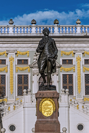 The monument to Johann Wolfgang Goethe in Leipzig, Germany.