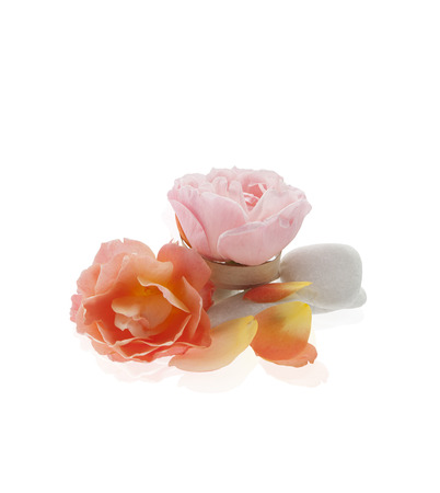 whit: rose flowers isolated whit stones