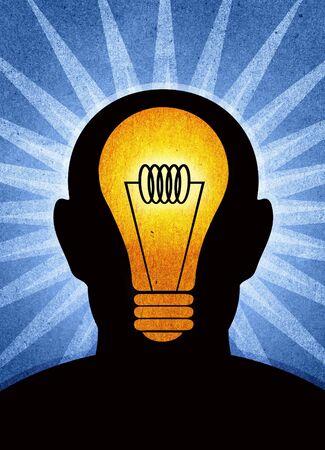 Un ejemplo de texturados de pensamiento de una idea