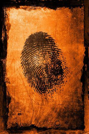 A fingerprint on a textured grunge background